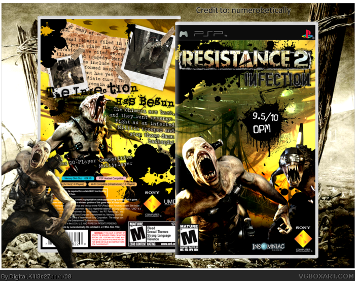 Resistance 2: Infection box art cover