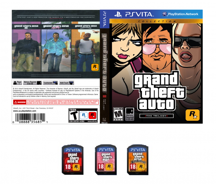GTA PS Vita box art cover