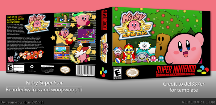 Kirby Super Star box art cover