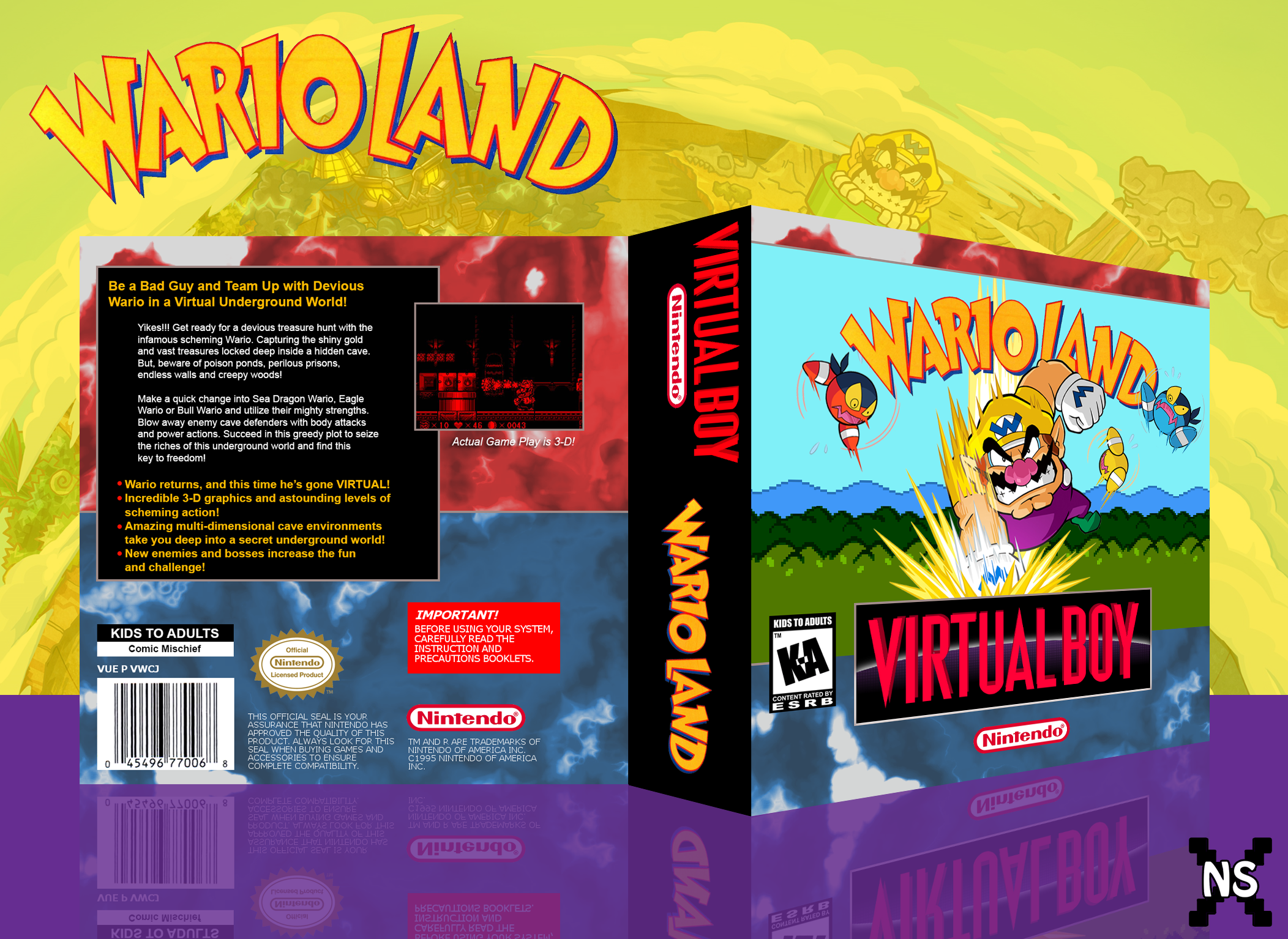 Wario Land box cover