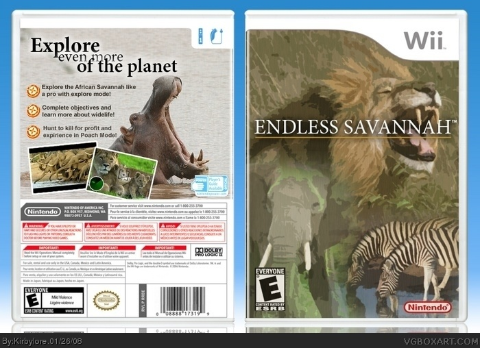 Endless Savannah box art cover
