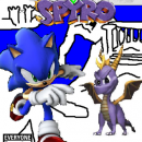 Sonic vs. Spyro Box Art Cover