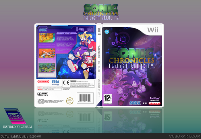 Sonic Chronicles: Twilight Velocity box art cover