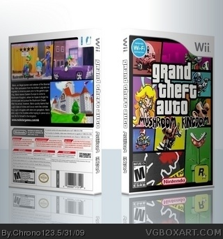 Grand Theft Auto: Mushroom Kingdom box art cover