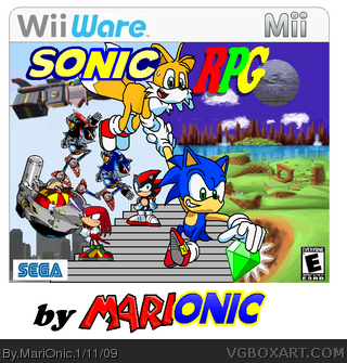 Sonic RPG wii ware box cover