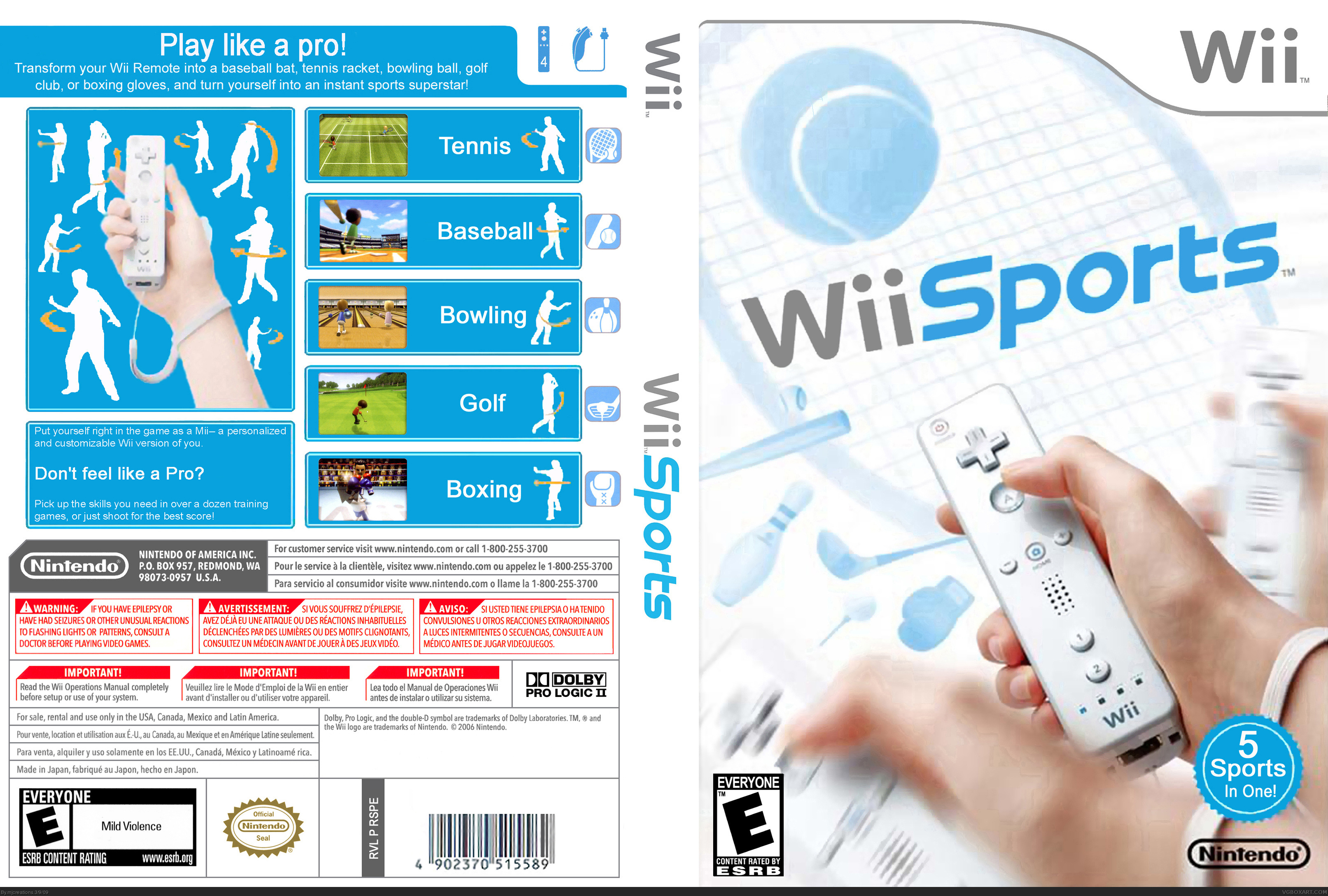 Wii Sports box cover