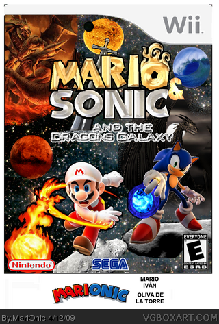 Mario & Sonic: Dragons Galaxy box art cover