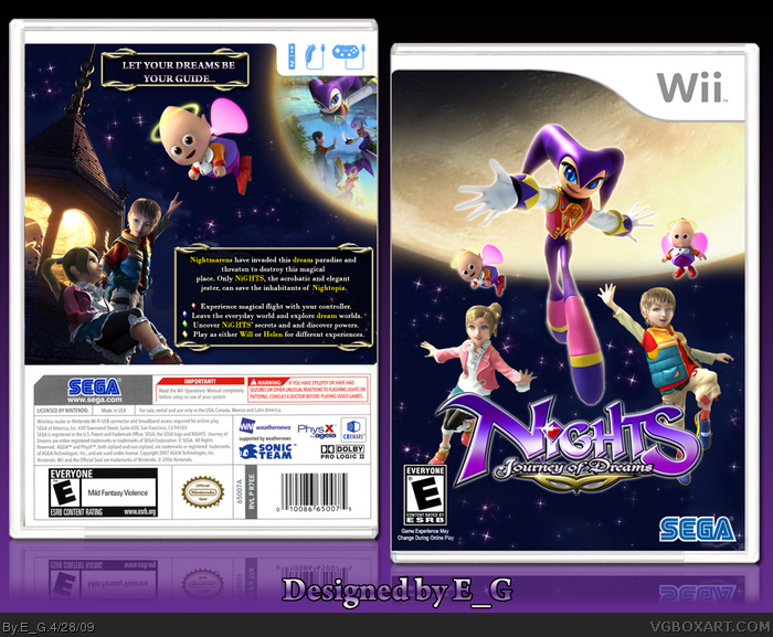 Nights: Journey Of Dreams box art cover