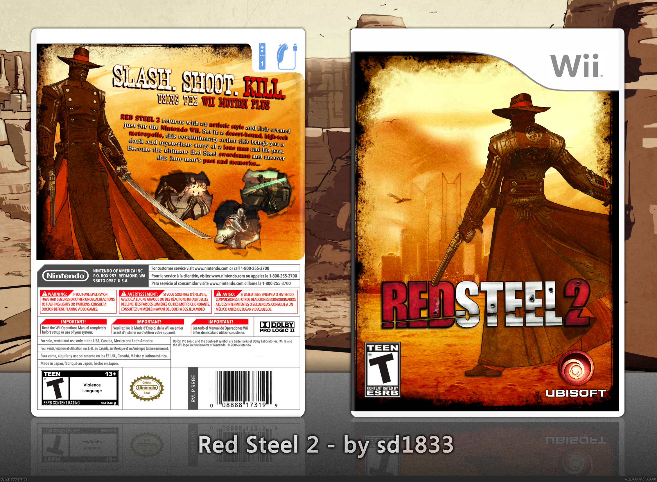 Red Steel 2 box cover
