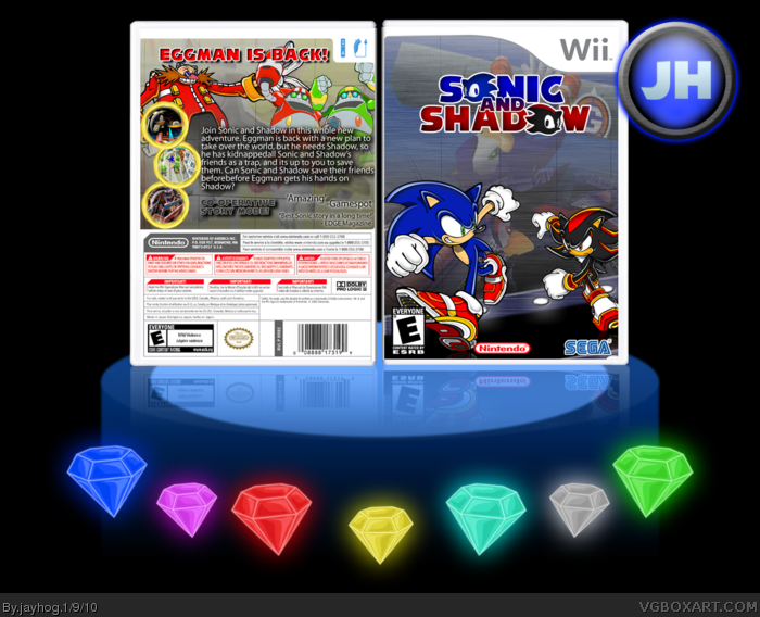 Sonic and Shadow box art cover