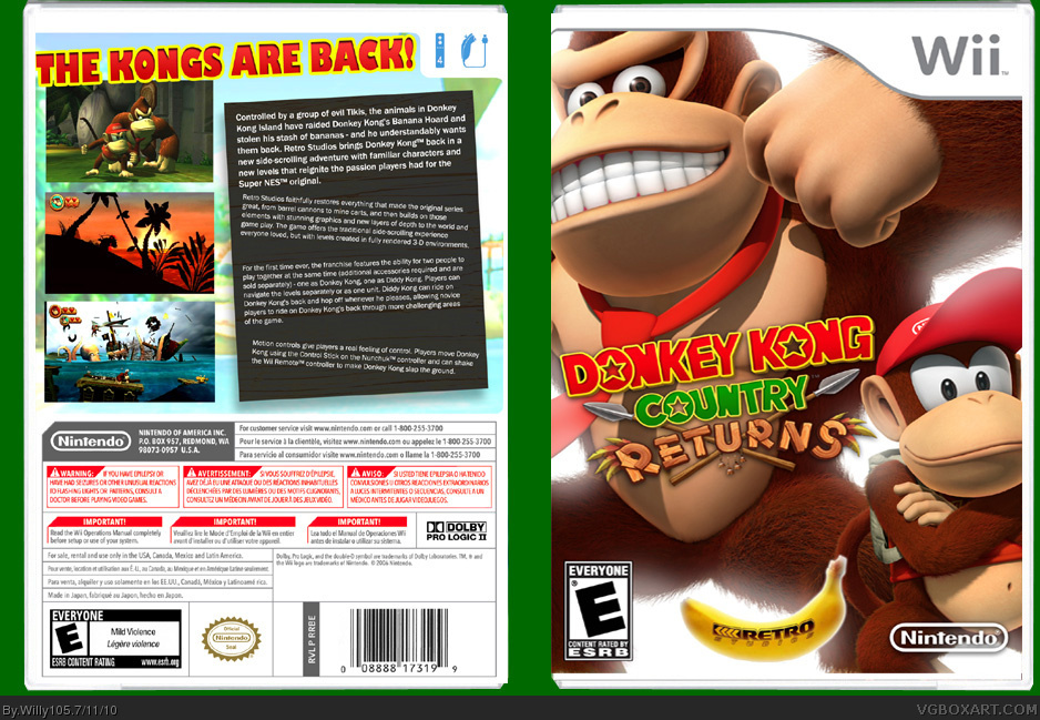 Donkey Kong Country Returns box cover
