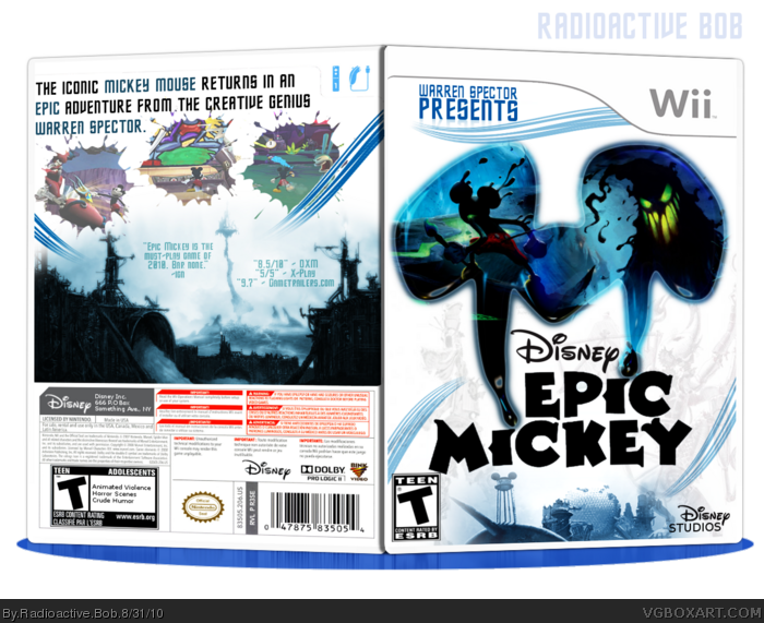 Epic Mickey box art cover