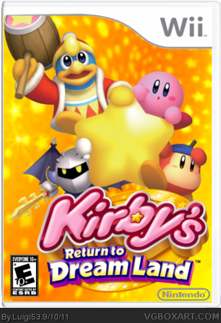 Kirby's Return To Dreamland box cover