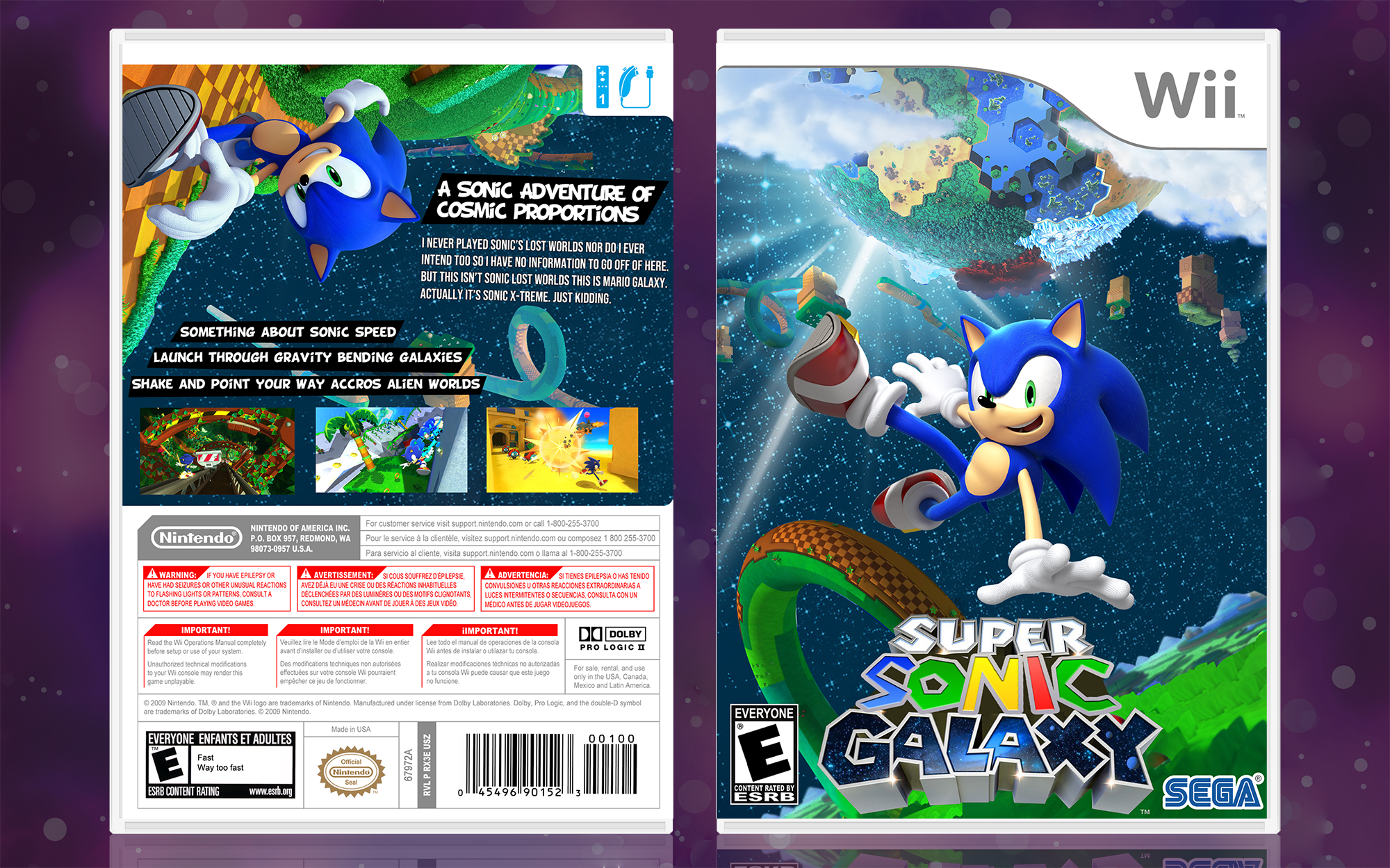 Super Sonic Galaxy box cover