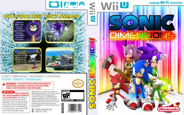 Sonic Dimensions box art cover