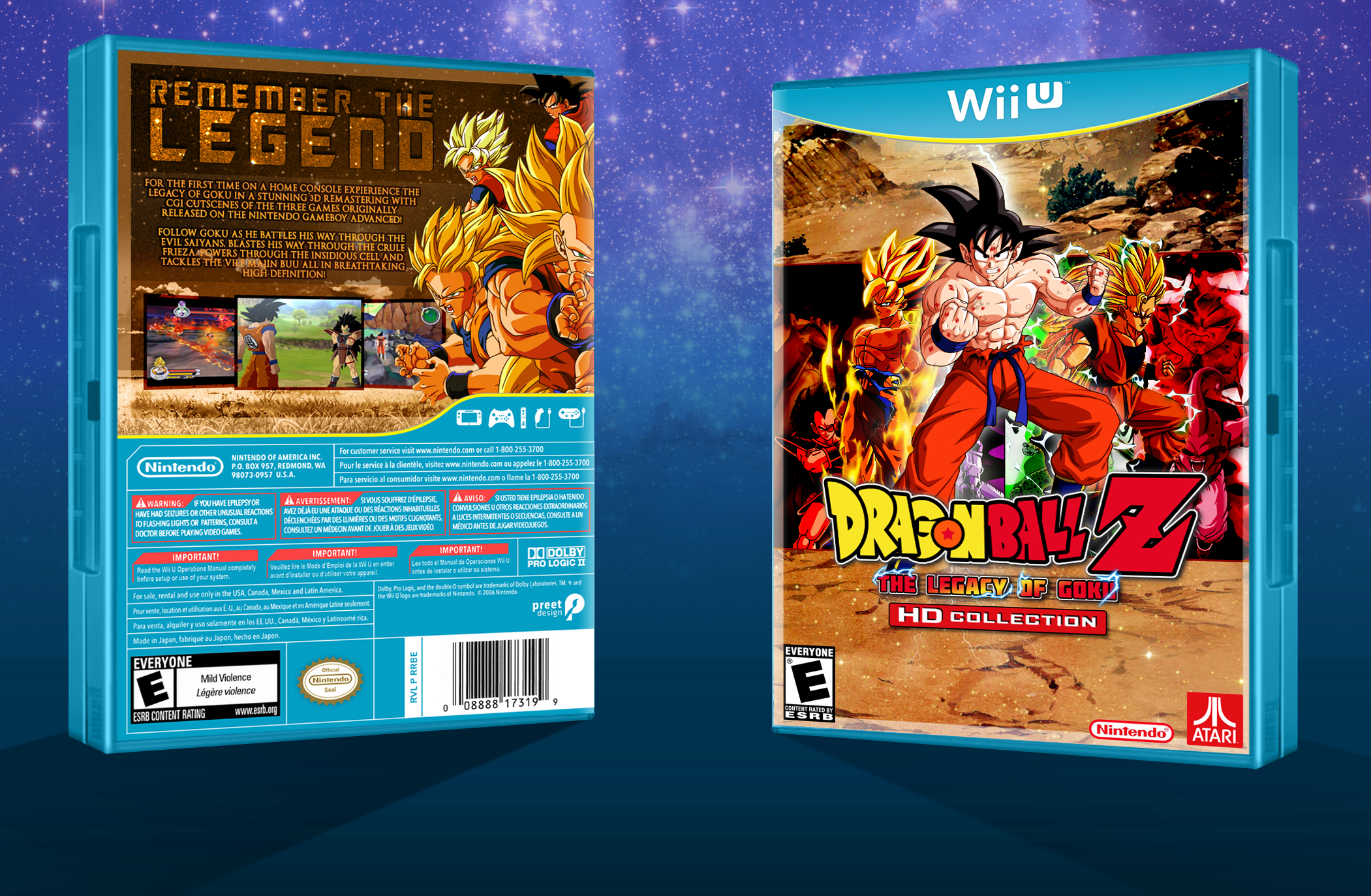 Dragon Ball Z: The Legacy of Goku - HD box cover