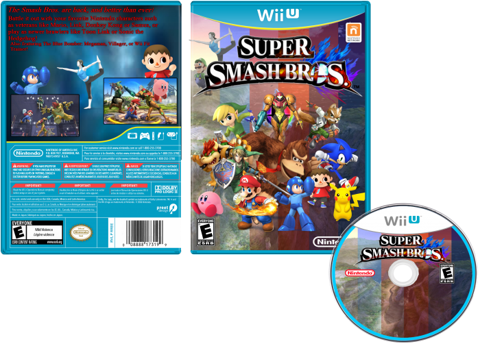 Super Smash Bros. Wii U box art cover