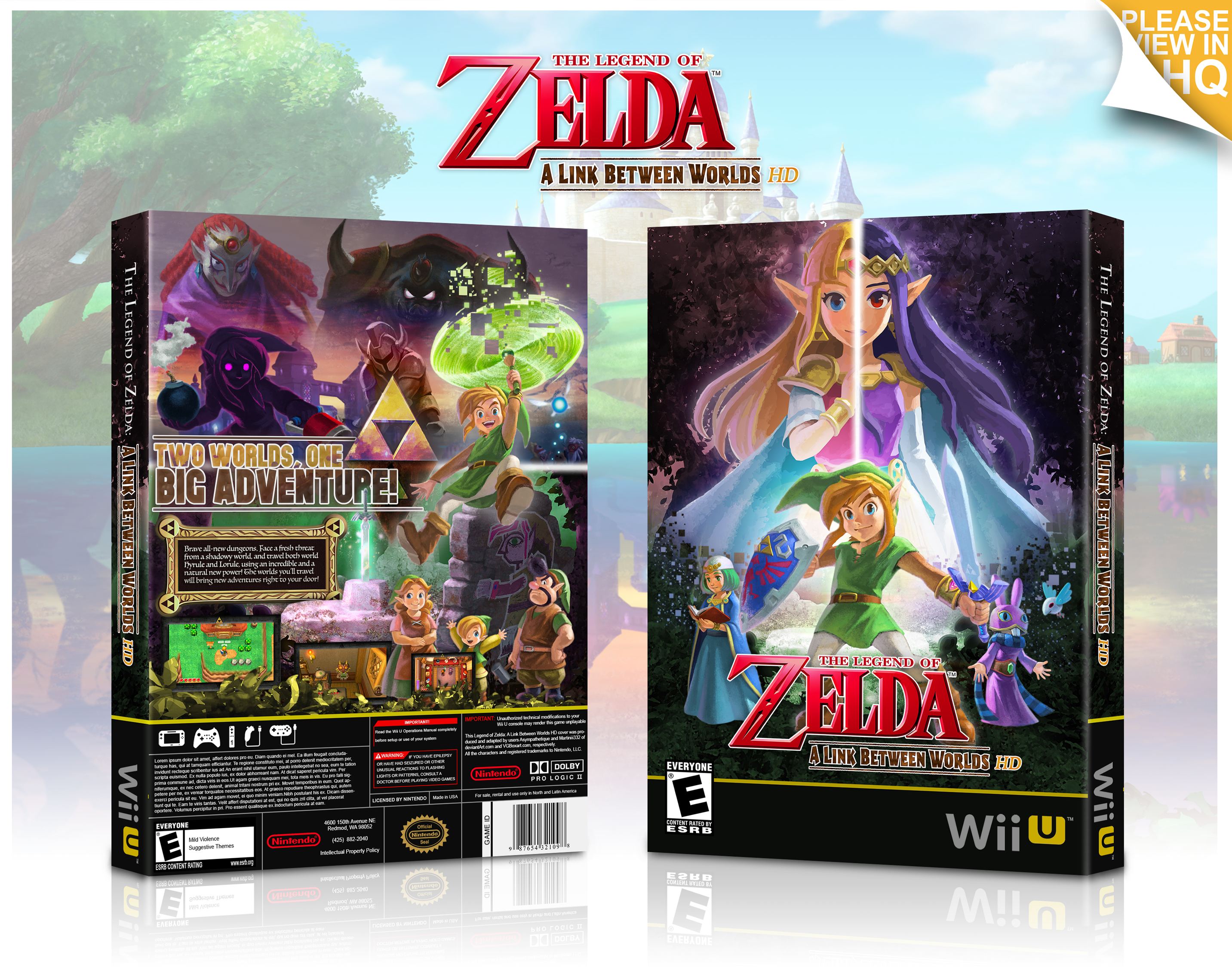The Legend of Zelda: A Link Between Worlds HD box cover