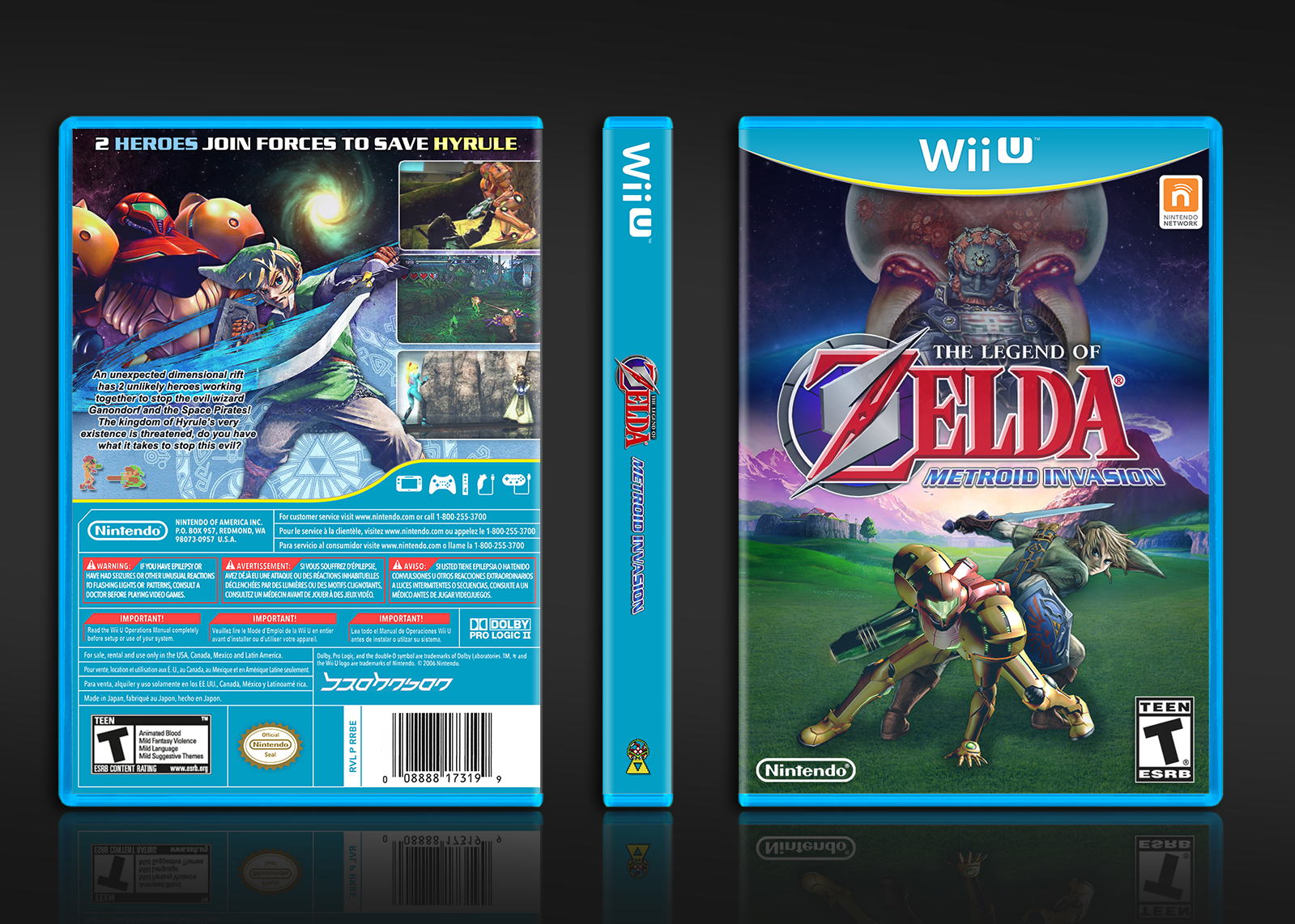 The Legend of Zelda: Metroid Invasion box cover