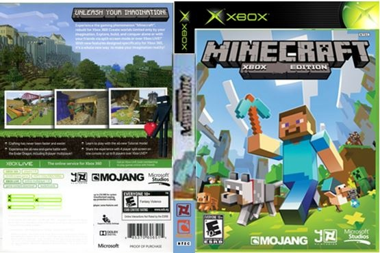 Minecraft XBOX Edition box cover