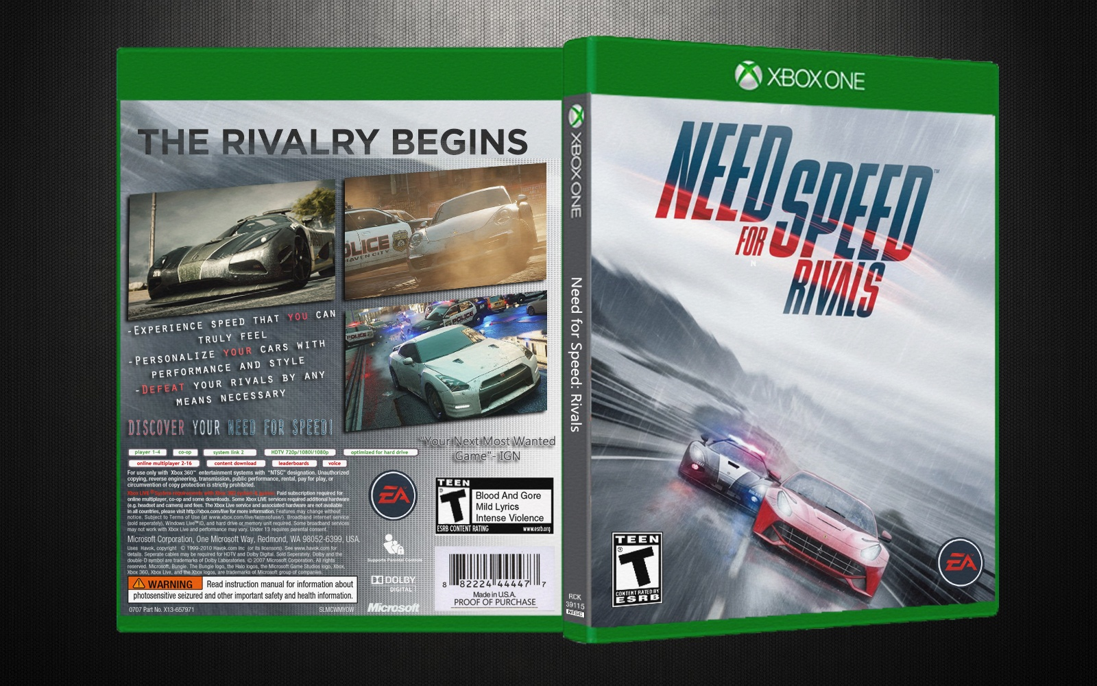 Need for Speed: Rivals box cover