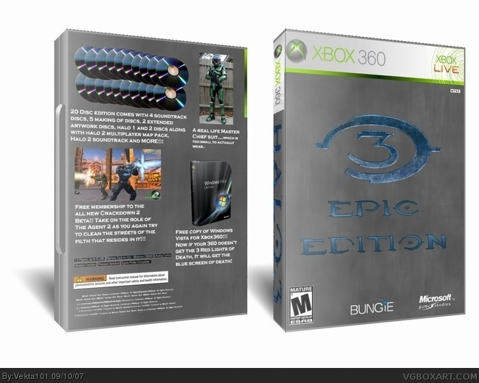 Halo 3 Limited Collector's Edition box art cover