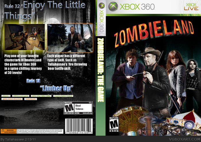 Zombieland: The Game box art cover