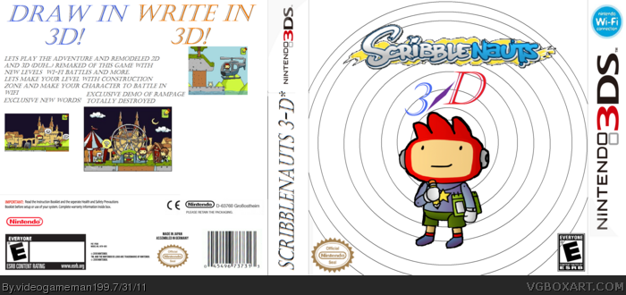 Scribblenauts 3-D box art cover