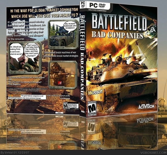 Battlefield: Bad Companies box art cover
