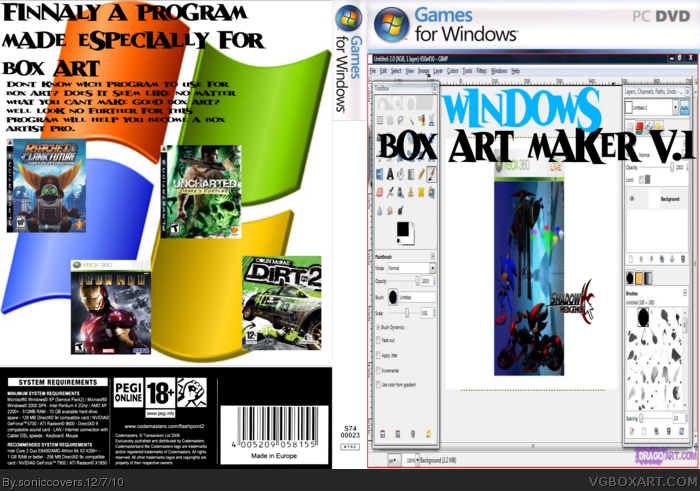Windows Box  Art Maker v.1 box art cover