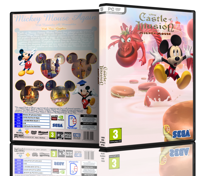 Castle Of Illusion Starring Mickey Mouse box art cover