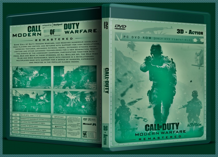 Call of Duty Modern Warfare Remastered box art cover