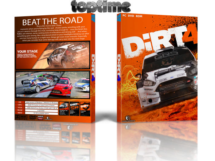 DiRT 4 box art cover