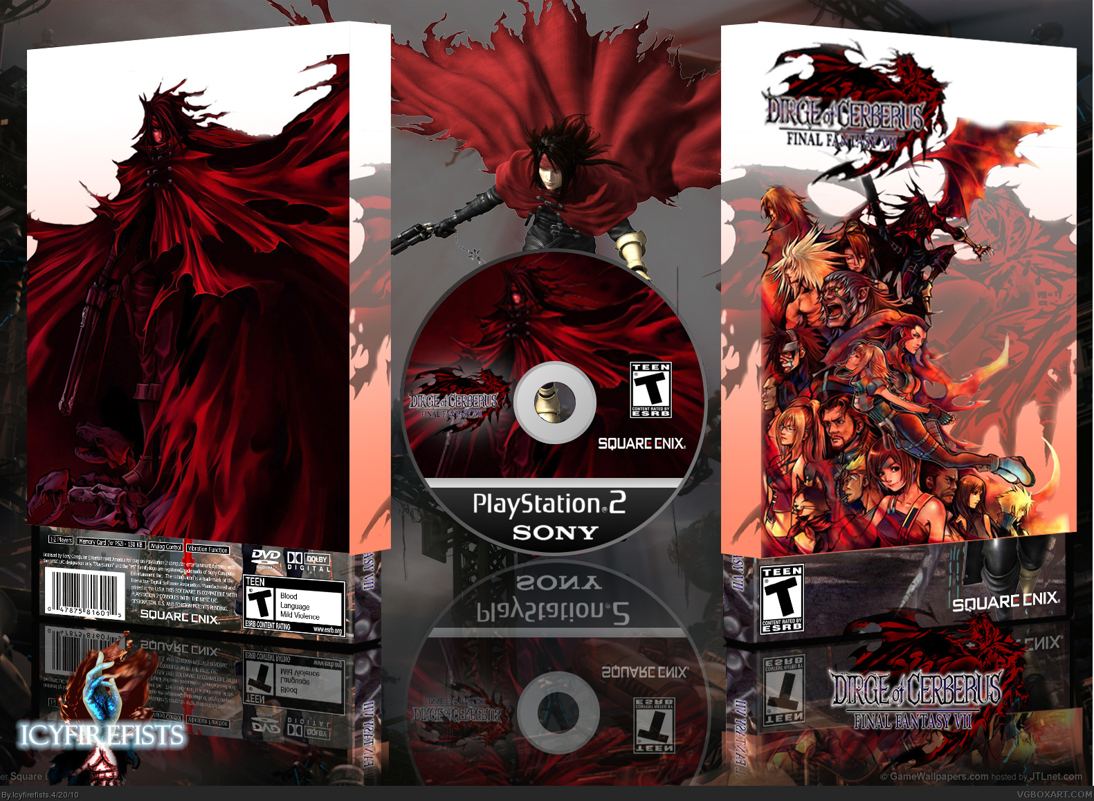 Dirge of Cerberus: Final Fantasy VII box cover