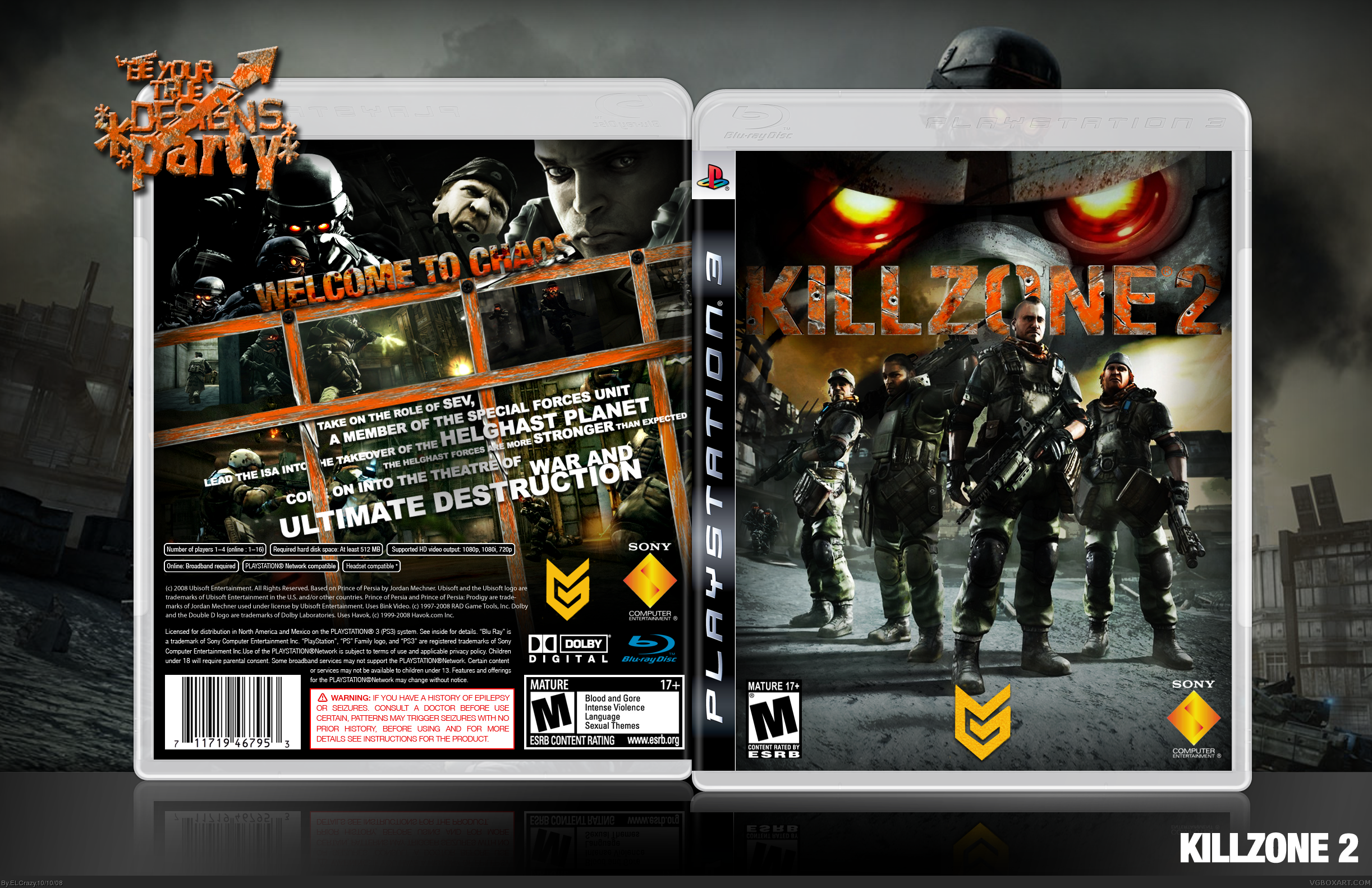 Killzone 2 box cover