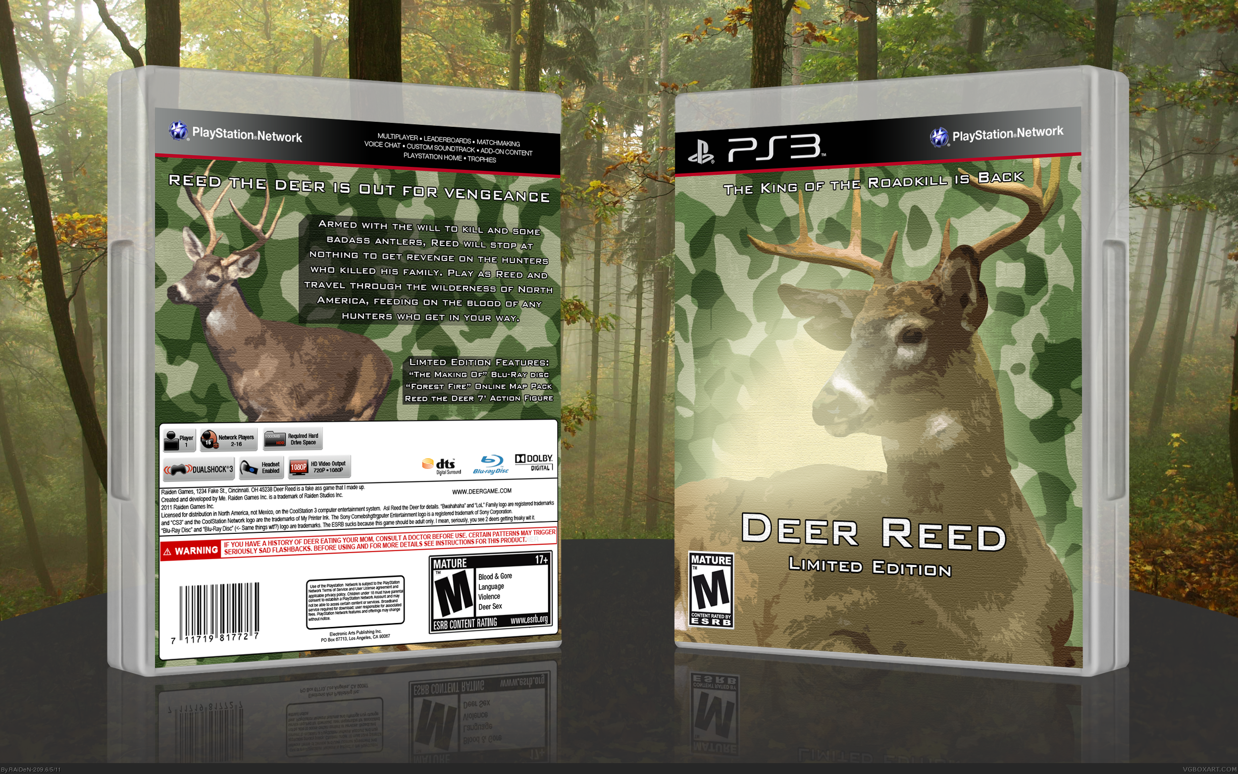 Deer Reed box cover