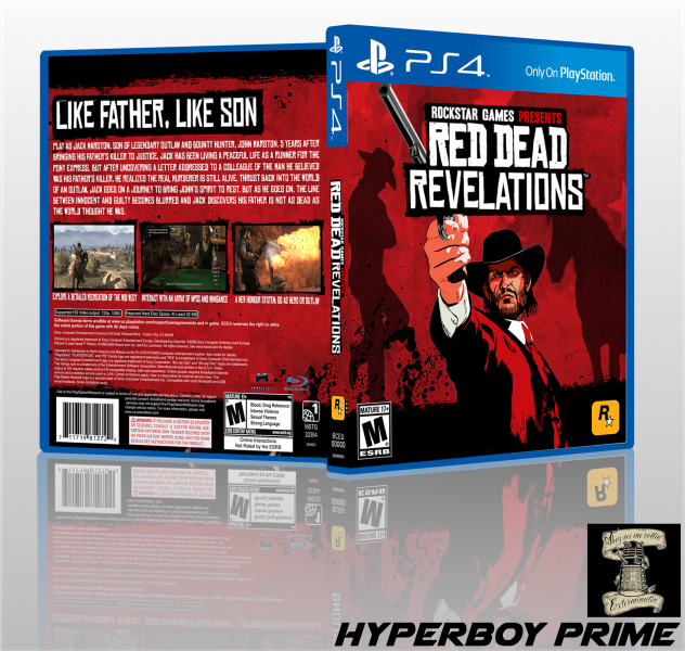 Red Dead Revelations box art cover