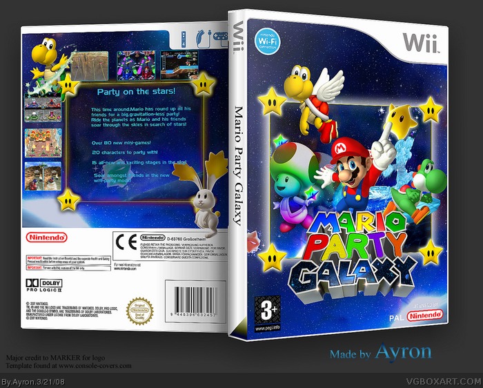 Mario Party Galaxy box art cover