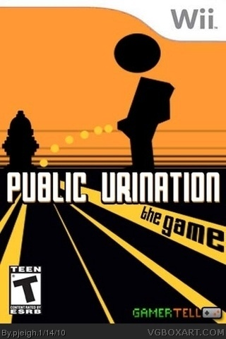 Public Urination: The Game box cover