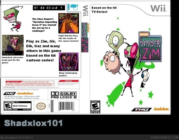 Invader Zim box art cover